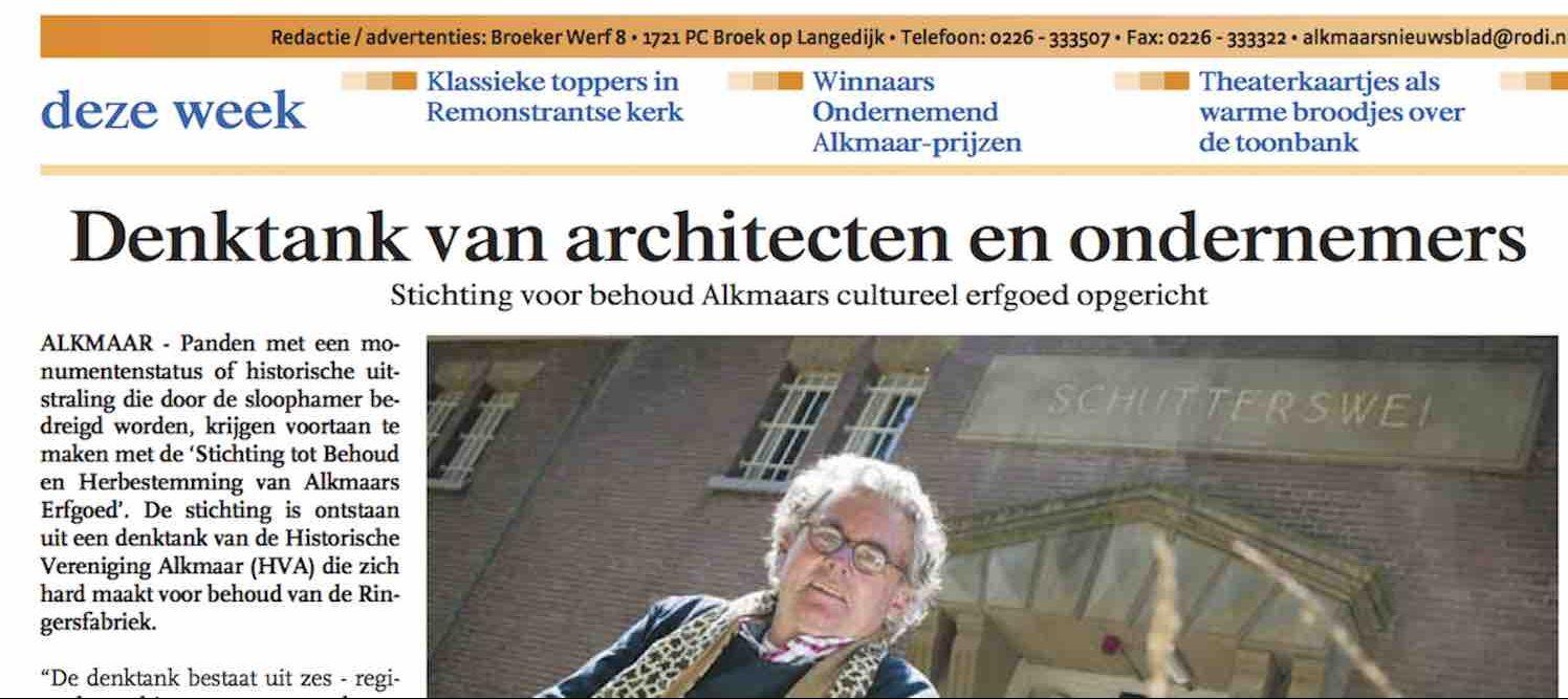 Stichting Tot Behoud En Herbestemming Alkmaars Erfgoed Opgericht