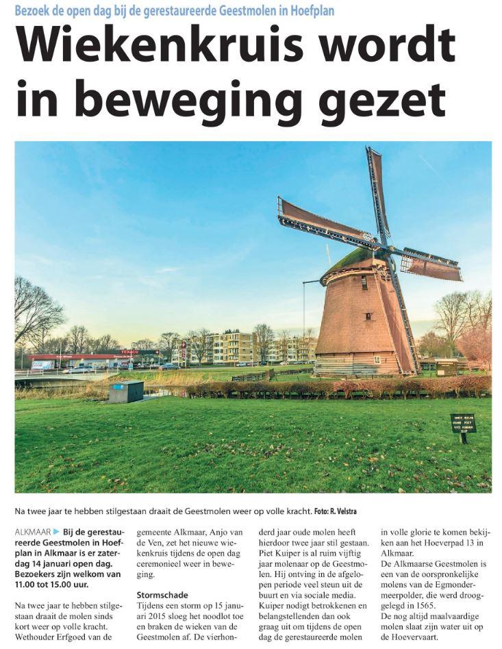 Alkmaars Weekblad, 11 januari 2017 - Adapt Alkmaar