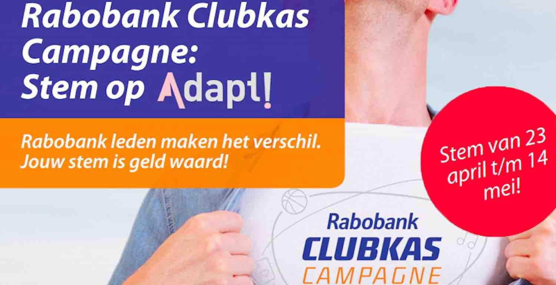 Adapt Ook In 2019 Bij Selectie Rabo Clubkas Campagne