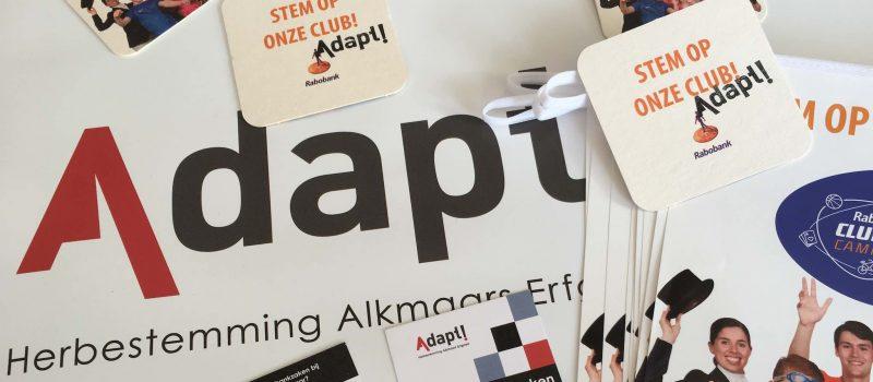 Adapt Alkmaar Van De Partij Bij Rabo Clubkas Campagne